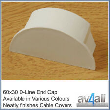 D-Line 60x30 End Cap for Cable Covers Conduit Trunking