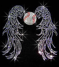 SPORTS ANGEL WINGS RHINESTONE IRON ON TRANSFER BLING