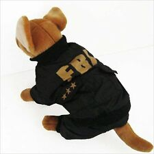 FBI Costume Jumpsuit pet dog clothes Chihuahua New