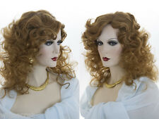 Medium Long Blonde Grey Brunette Red Curly Skin Top Wig