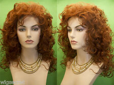 Medium Long Blonde Brunette Red Grey Curly Wigs