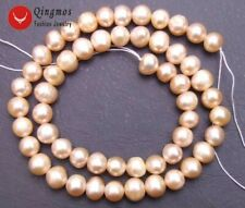 """7-8mm natural Pink Freshwater Pearl Loose Beads 14""""-391"""