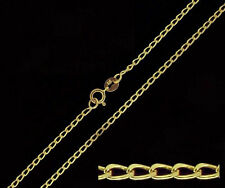 """LAST ONE - 375 9ct Solid Yellow Gold 20"""" Inch Open Curb Chain Necklace"""