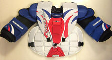 New Powertek Barikad goal ice hockey goalie chest pads and arm protector sz JR