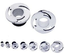*TUNNEL -Body Jewelry -Saw BLADES -w/O-Ring -PAIR -Surgical Steel -Plugs*