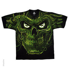 New GREEN TERMINATOR SKULL T Shirt