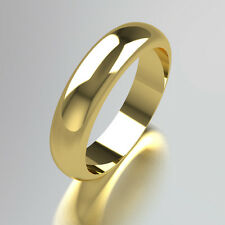 Wedding Rings Ladies/Gents 18ct Yellow Gold D-Shaped 2mm 4mm 6mm 8mm All Sizes