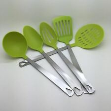 5-Piece Kitchen Utensil Set - Stainless Steel & Nylon