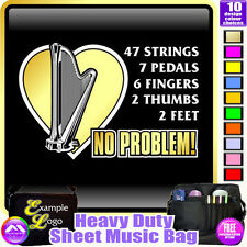 Harp 47 Strings No Problem - Sheet Music & Accessories Custom Bag by MusicaliTee
