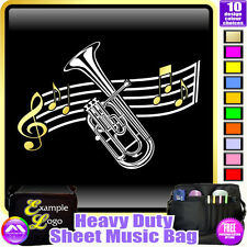 Tenor Horn Curved Stave - Sheet Music & Accessories Custom Bag by MusicaliTee