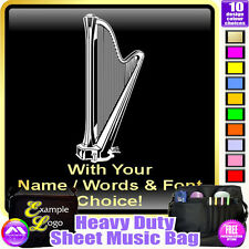 Harp Pedal Picture With Your Words - Sheet Music & Accessories Bag MusicaliTee