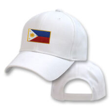 PHILIPPINES WHITE FLAG COUNTRY EMBROIDERY EMBROIDED CAP HAT