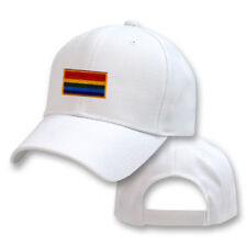 GAY FLAG RAINBOW EMBROIDERED EMBROIDERY BASEBALL ADJUSTABLE HAT CAP