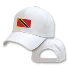 TRINIDAD TOBAGO WHITE FLAG COUNTRY EMBROIDERY EMBROIDED CAP HAT