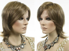 Short Smooth, Shag Style Blonde Grey Brunette Red Straight Wigs With Soft Layers
