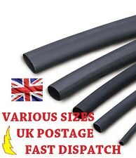 3.2mm Black Heat Shrink Tubing Various Sizes 2:1 Ratio Sleeving Heatshrink