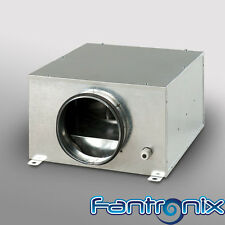 """Acoustic Box Fan In Line Extractor for Hydroponic Grow Rooms 4 5 6 8 10 12"""" dia"""