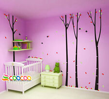"""Wall Decor Decal Sticker Mural Removable large forest birds 4 trees 96"""" DC02034"""