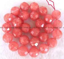 Watermelon Stone Round Faceted Beads 15'' 6mm 8mm 14mm 16mm