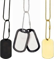 Complete Tactical Military GI Dog Tag Set (2 Tags, 2 Chains, 2 Silencers)