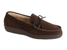 L.B. Evans Men's Moccasin Slipper HideAway Morgan Chocolate FREE SHIPPING
