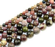 Natural Tourmaline Round Gemstone Beads 15'' 5mm 8mm 10mm 12mm