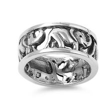 Lucky Elephant Ring - .925 Sterling Silver - Sizes 5 6 7 8
