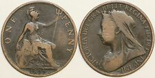 1895 to 1901 Victoria Bronze Penny Your Choice of Date
