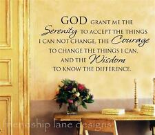 SERENITY PRAYER vinyl wall decal/quote/lettering/words Inspirational, beautiful!
