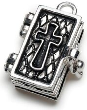 1 Antiqued Silver Secret Keepers Prayer Box Charm *Many Styles to Choose!