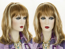 Soft Shoulder Length Waves Blonde Brunette Red Wavy Wigs Layered with Bangs