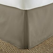 "Pleated Bed Skirt Dust Ruffle in 12 Colors! All Sizes! 14"" Drop Length ON SALE!!"