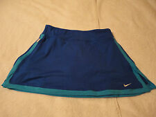 NIKE WOMEN'S NEW BLUE TENNIS SKIRT DRI-FIT WITH PANTS