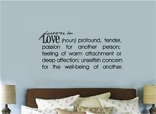 Forever In Love Definition Vinyl Decal Sticker Wall Lettering Decor Words Quote