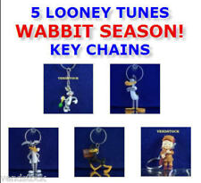5 NEW LOONEY TUNES RABBIT FIRE KEY CHAIN RING BACKPACK ZIPPER PULLS YOU PICK