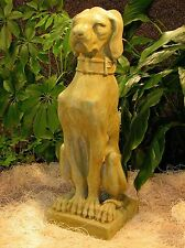 "Cast Stone Hound Dog Gargoyle Outdoor Garden Statue Yard Art  22"" * New*"