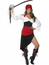 Ladies Pirate Wench Fancy Dress Costume  Size 8 - 18