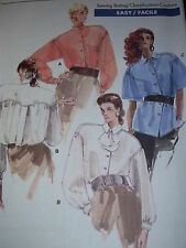 VOGUE #7045 LADIES BEAUTIFUL COUTURE SHIRT w/COLLAR VARIATIONS PATTERN  8-18 uc