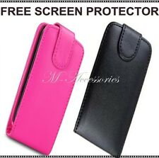 ★★ NEW FLIP PU LEATHER CASE COVER POUCH FOR MOBILE PHONE + FREE SCREEN PROTECTOR
