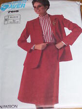 SIMPLICITY #7615 - LADIES EASY TO SEW JACKET & STRAIGHT SKIRT PATTERN  10-14 uc