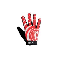 Savage Vortex Bike Bmx Mtb Riding Gloves Available In 4 Sizes. White/Red SVGL410