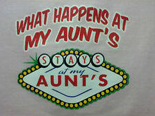 Happens Stays @ Aunt 's Kids Cute Sweet T-Shirt Infant Baby Toddler Youth Tee