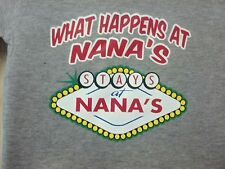 Happens Stays @ Nana 's Kids Cute Sweet T-Shirt Infant Baby Toddler Youth Tee