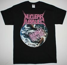 NUCLEAR ASSAULT HANDLE WITH CARE'89 S.O.D. ANTHRAX TRASH METAL NEW BLACK T-SHIRT