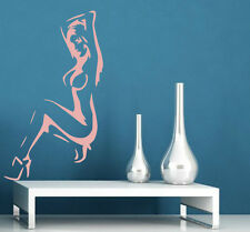 Sexy Naked Lady Silhouette Vinyl Art Decal & Wall Sticker. Many colours. New!