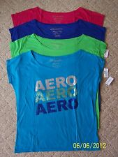 NWT's Aeropostale Womens Juniors T-Shirts Top Sizes XL & XXL in 4 colors