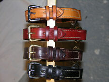 "Leather dog collar, center ring, custom made 1"" wide"