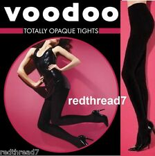 Voodoo New Ladies Sexy Totally Opaque Black Grey Blue Tights 120 Pantyhose Size