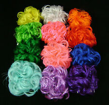 """Scrunchie Hair Ponytail Fastener 3"""" Fun Colors Mona Lisa Synthetic YOUR CHOICE"""