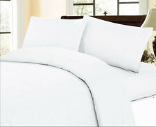 Sale 1000TC 100%Cotton Complete UK Bedding Collection Solid White Choose items